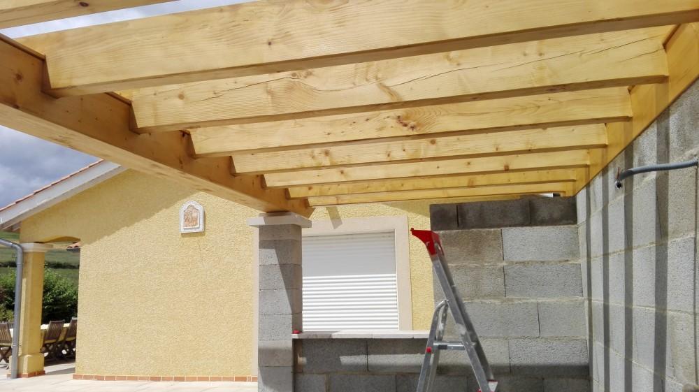 charpente pool house pergola tuile menuiserie fagot. Black Bedroom Furniture Sets. Home Design Ideas