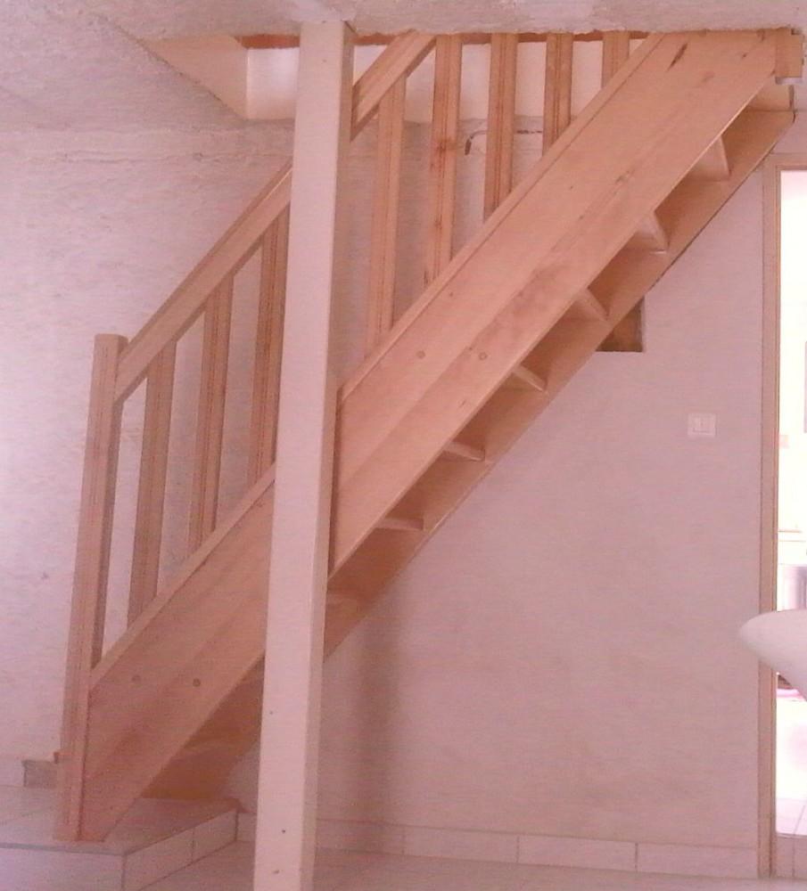 Escalier Droit Sans Rampe en ce qui concerne escalier, garde-corps - menuiserie fagot