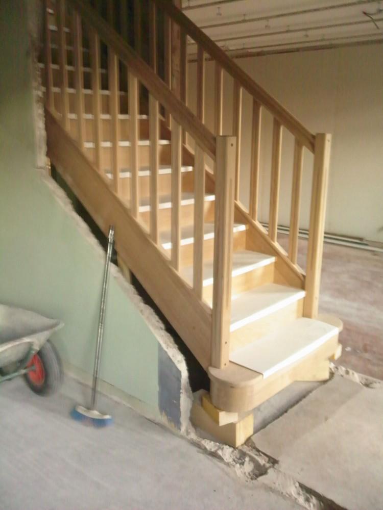 escalier garde corps ch ne menuiserie fagot. Black Bedroom Furniture Sets. Home Design Ideas