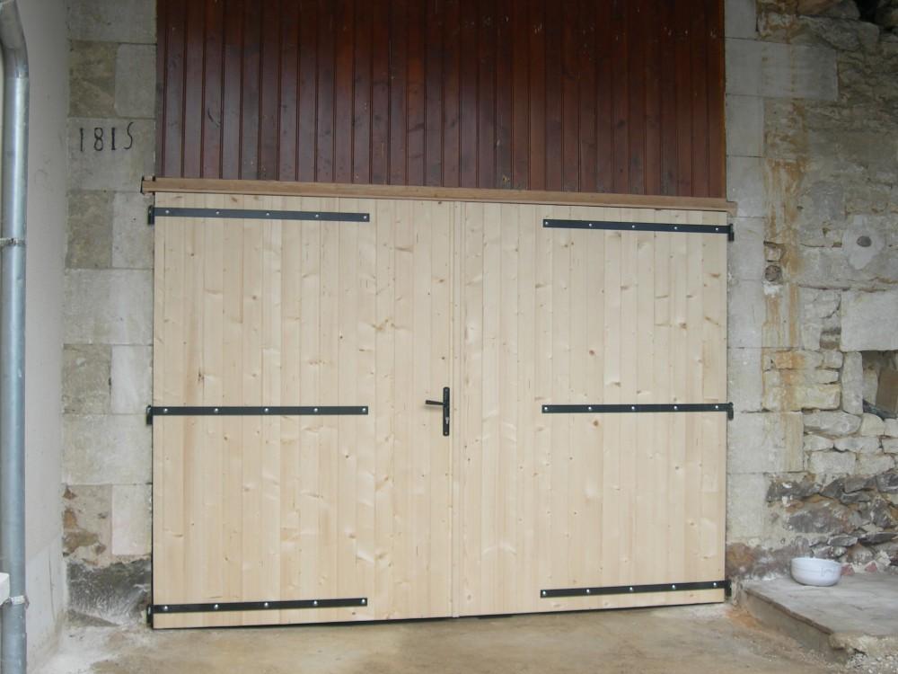 Porte porte double grange menuiserie fagot - Porte grange ...
